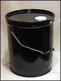 5 Gallon Round Steel Pail With Lug Cover With Rieke Opening