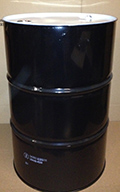 55 Gallon   Tight Head Black/White  Round  Steel   Drum