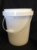 5 Gallon   Open Head White  Twist and Lock  Plastic   Pail