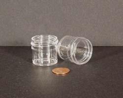 1/4 oz.   33 400 Clear  Regular Wall  Plastic   Jar