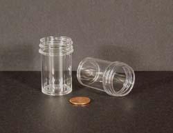 7/8 oz.   33 400 Clear  Regular Wall  Plastic   Jar