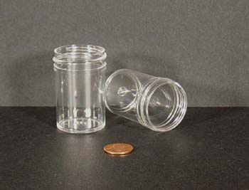 1 oz.   38 400 Clear  Regular Wall  Plastic   Jar