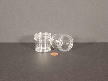 1 oz.   43 400 Clear  Regular Wall  Plastic   Jar