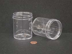 4 oz.   58 400 Clear  Regular Wall  Plastic   Jar