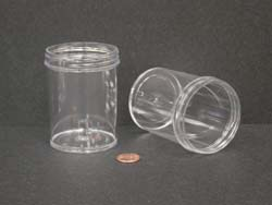 6 oz.   63 400 Clear  Regular Wall  Plastic   Jar