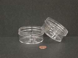2 oz.   70 400 Clear  Regular Wall  Plastic   Jar