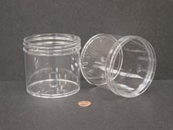 12 oz.   89 400 Clear  Regular Wall  Plastic   Jar