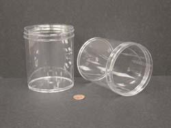 16 oz.   89 400 Clear  Regular Wall  Plastic   Jar