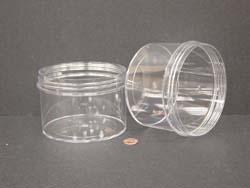 24 oz.   120 400 Clear  Regular Wall  Plastic   Jar
