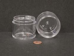2 oz.   53 400 Clear  Thick Wall  Plastic   Jar