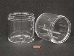 6 oz.   70 400 Clear  Thick Wall  Plastic   Jar