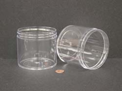 12 oz.   89 400 Clear  Thick Wall  Plastic   Jar