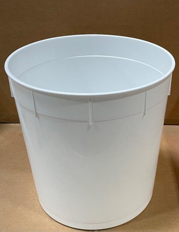2.5 gallon    White  Open Head  Plastic   Pail