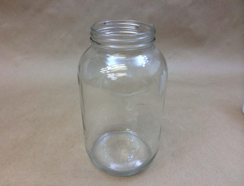 64 oz. / Half Gallon   83 400 Flint/Clear  Round  Glass   Jar