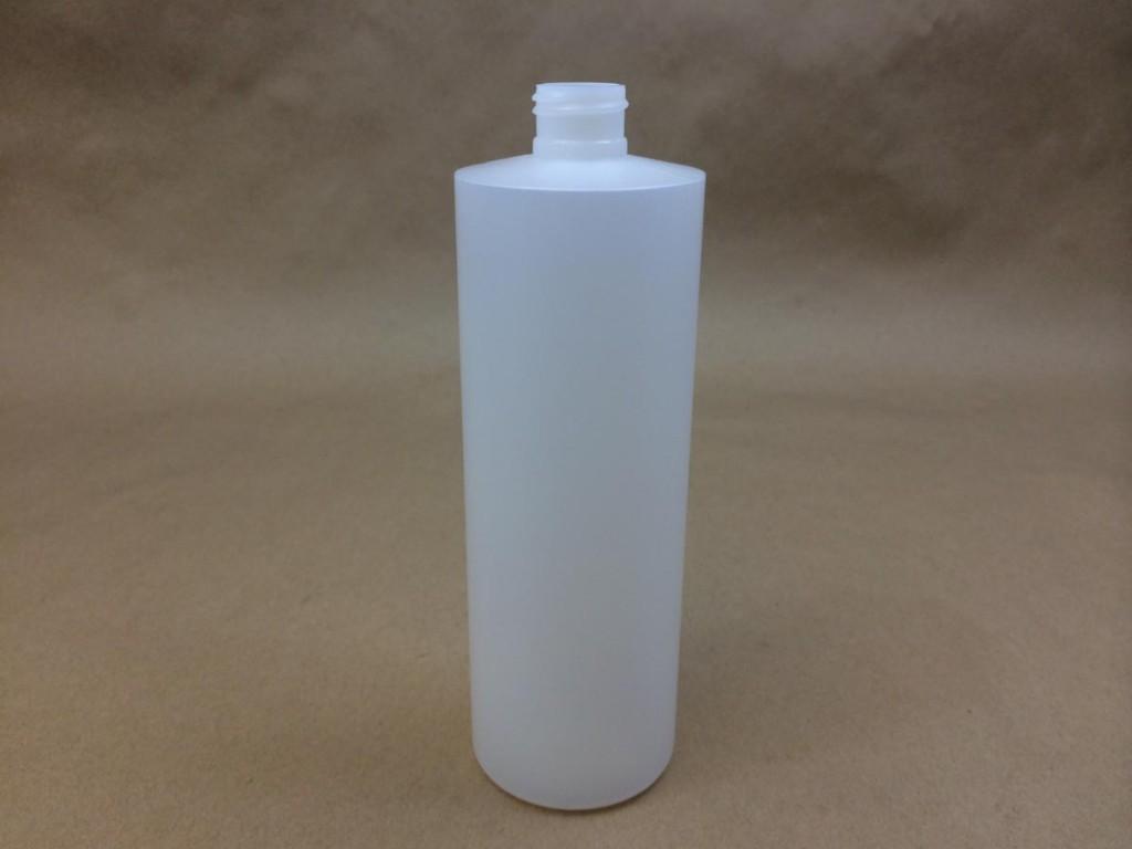16 oz.   24 410 Natural  Cylinder  Plastic   Bottle