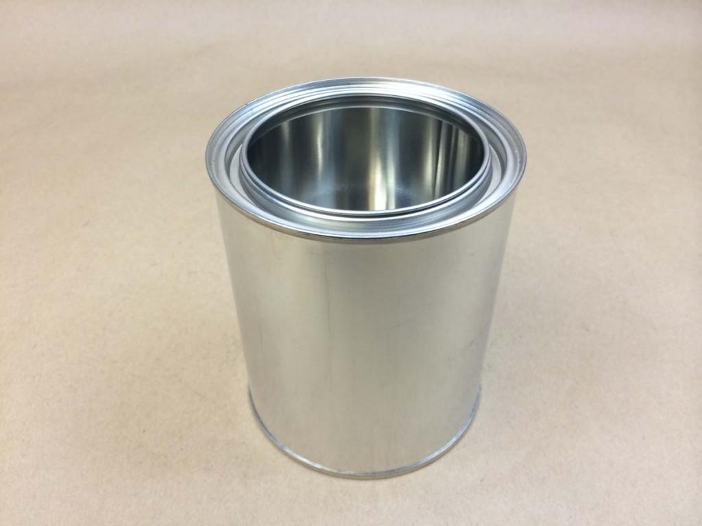 Quart    Silver  Paint  Tin   Can