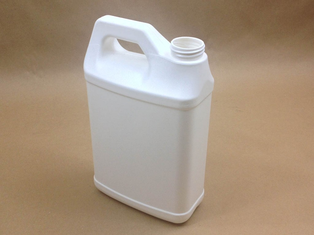 64 oz.   38 400 White  F Style  Plastic   Jug