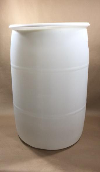 55 Gallon Natural Translucent Closed Head Plastic Un Drum