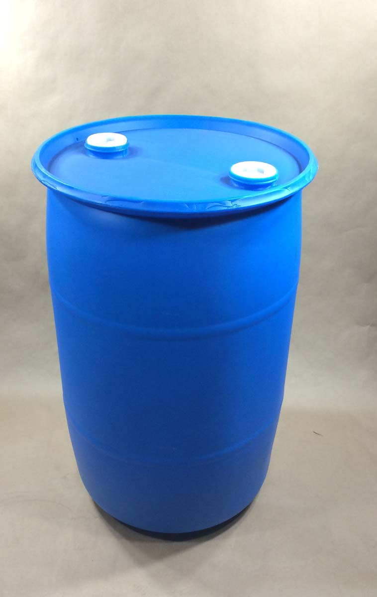 30 Gallon Closed Top Round Plastic Drum