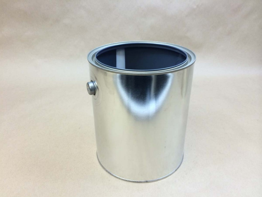1 Gallon   Open Head Silver  Paint  Tin   Can