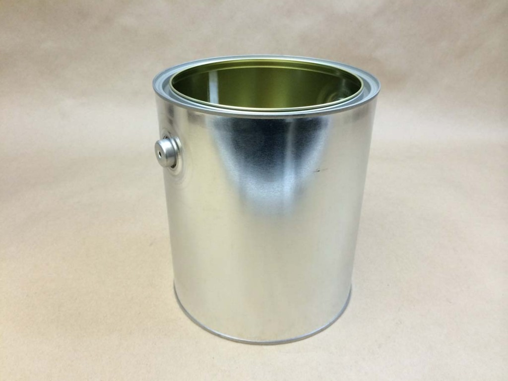 1 Gallon   Open Head Silver  Paint  Tinplate   Can Only