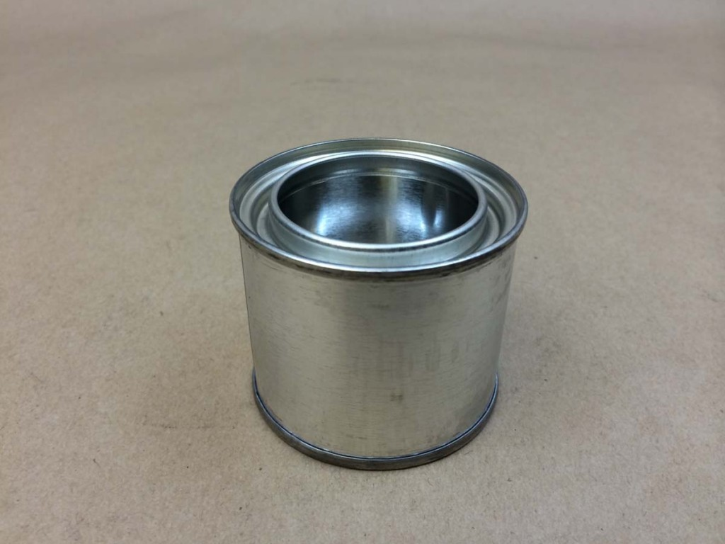 1/4 Pint   Open Head Silver  Paint  Tin   Can
