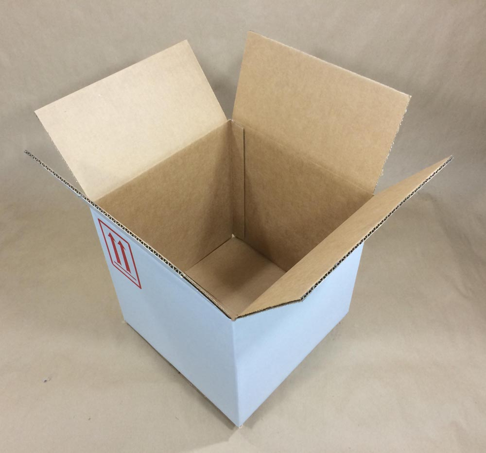 12 x 12 x 12 275 Lb Bursting Test Board Regular Slotted Container Corrugated Boxes