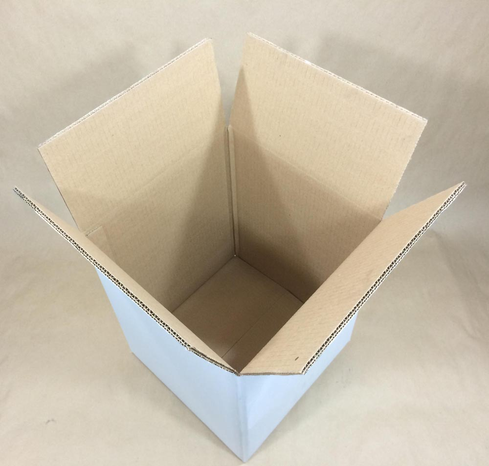 12.25 x 12.25 x 14.875 275 Lb DoubleWallTest Brd    White  Regular Slotted Container  Corrugated   Boxes