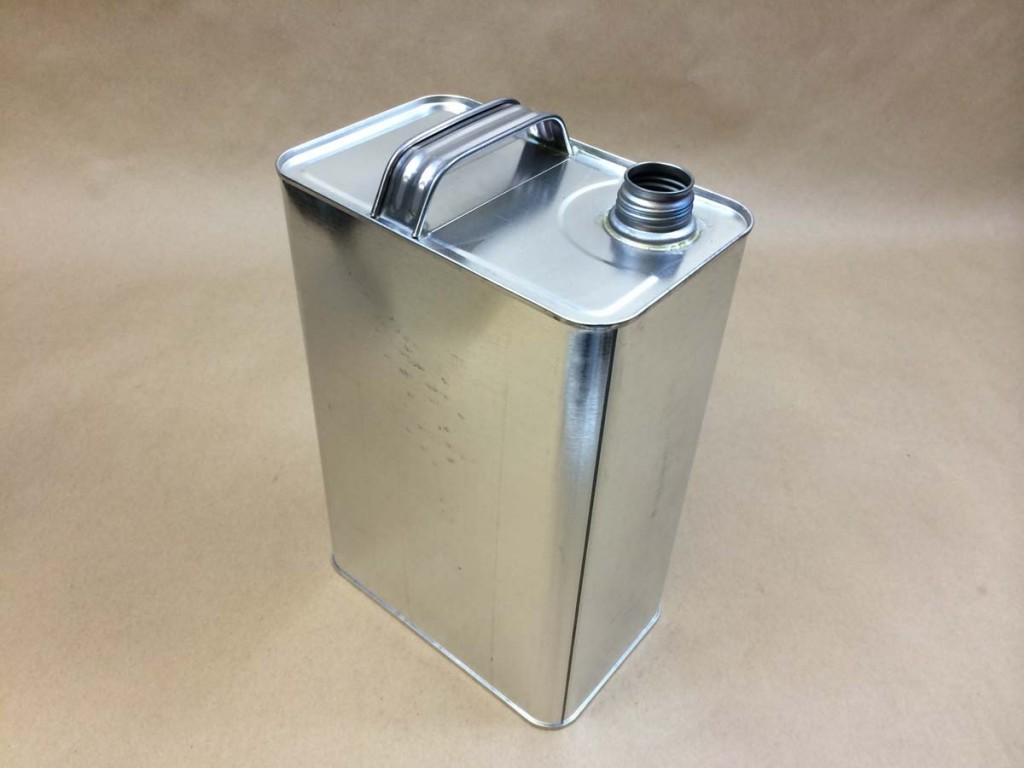 1 Gallon   1-1/8 Beta Silver  Rectangular  Tin   Can