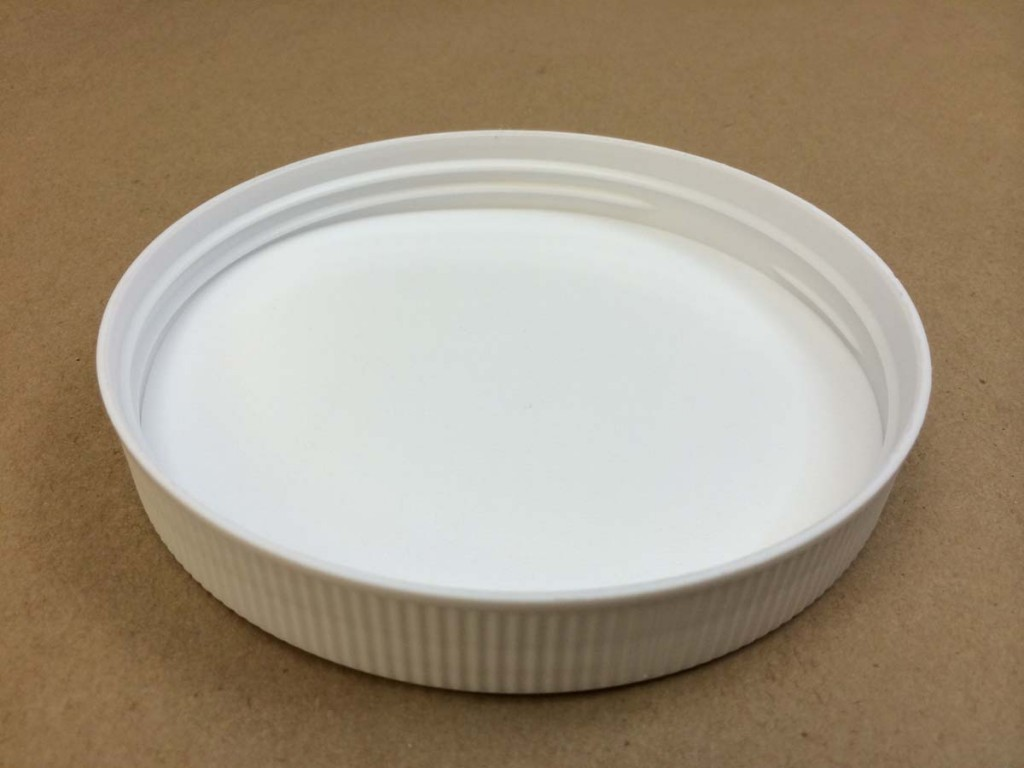 120 400 White  Ribbed Sides/Matte Top  Plastic   Cap