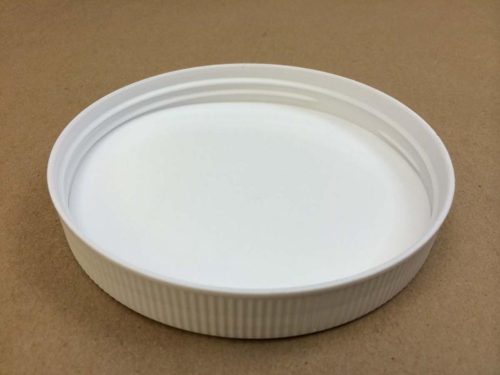 120 400   120 400 White  Round  Plastic   Cap