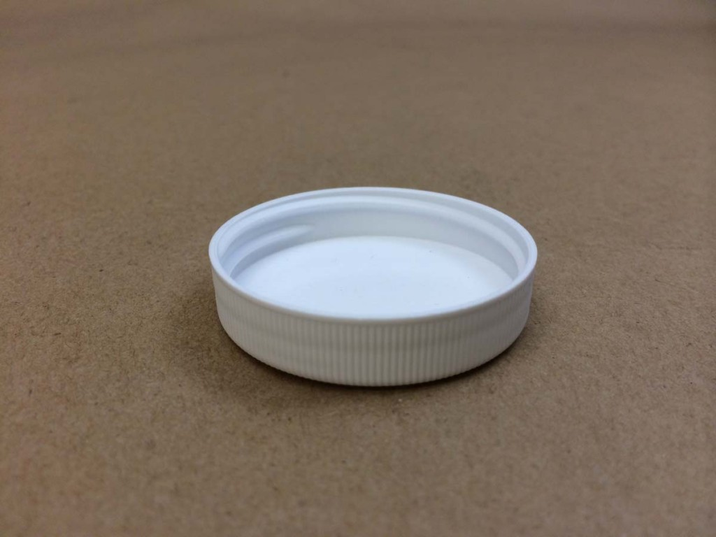 45 400 White  Ribbed Sides/Matte Top  Plastic   Cap