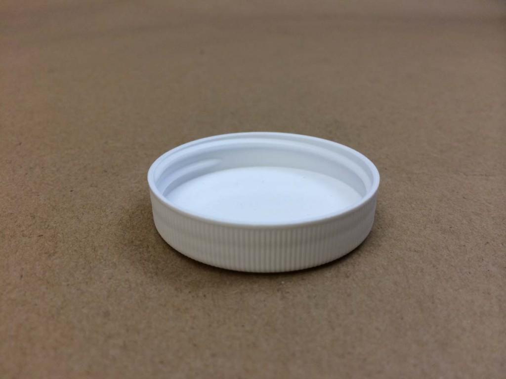 45 400   45 400 White  Round  Plastic   Cap
