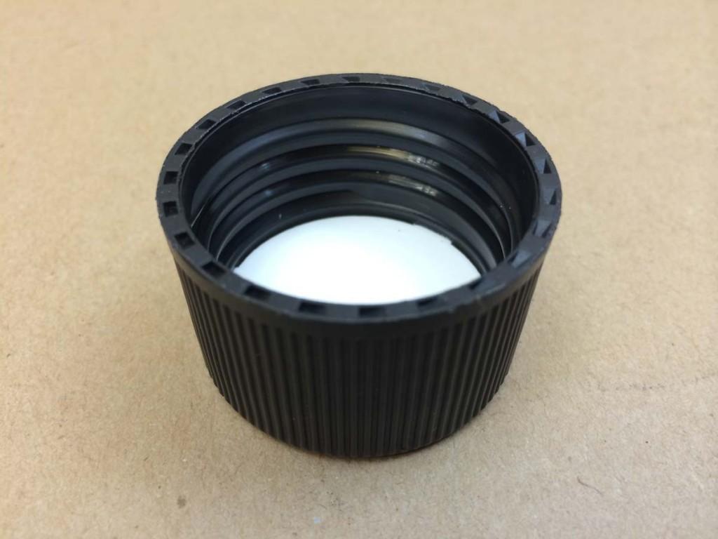 38 439 Black  Ribbed Sides/Matte Top  Plastic   Cap