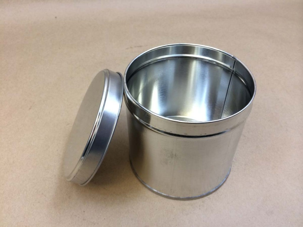 32 oz./2 Lb.    Open Head Silver  Slip Cover  Tin   Can