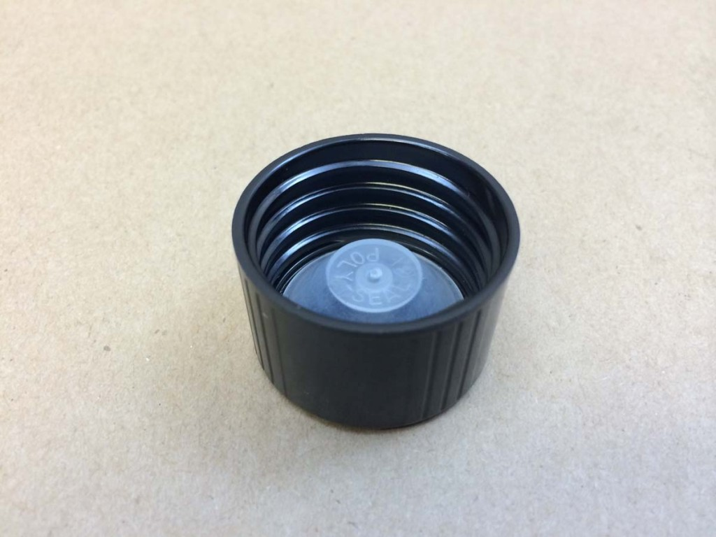 33 400 Black  Ribbed Sides/Smooth Top   Plastic   Cap