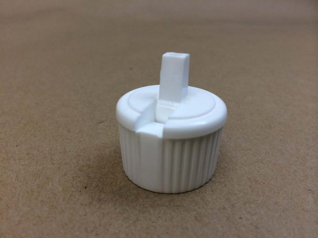 24 410 White  Polytop - Ribbed Sides  Plastic   Cap