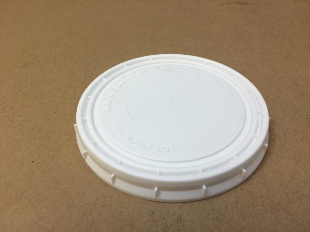 18 Oz Lid 100 mm   100 mm White    Plastic   Lid