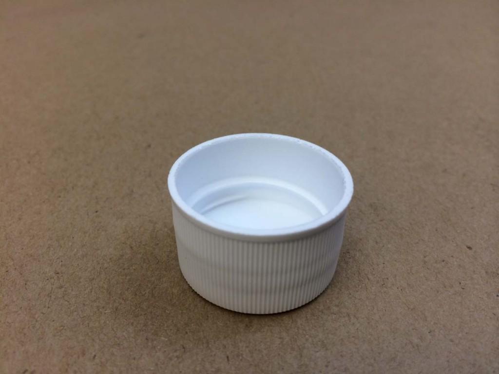 28 410   28 410 White  Round  Plastic   Cap