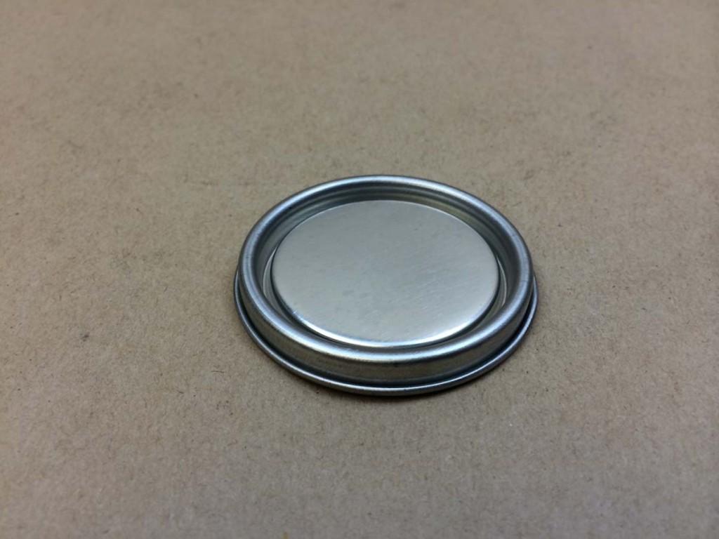 1/4 Pint Plug    Silver    Tin   Plug