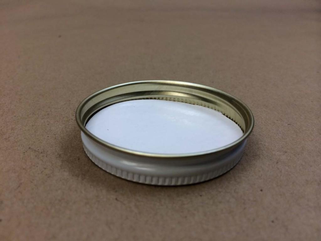 53 400   53 400 White  Round  Metal   Cap