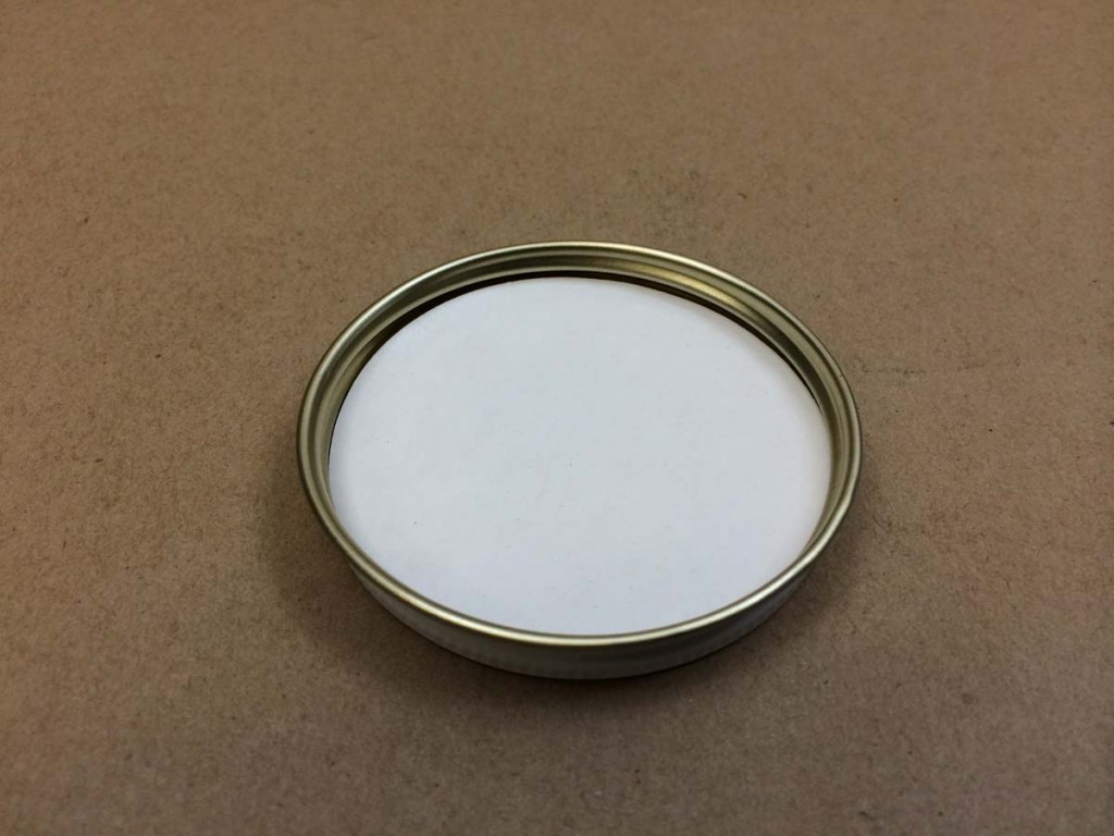 63 400   63 400 White  Round  Metal   Cap