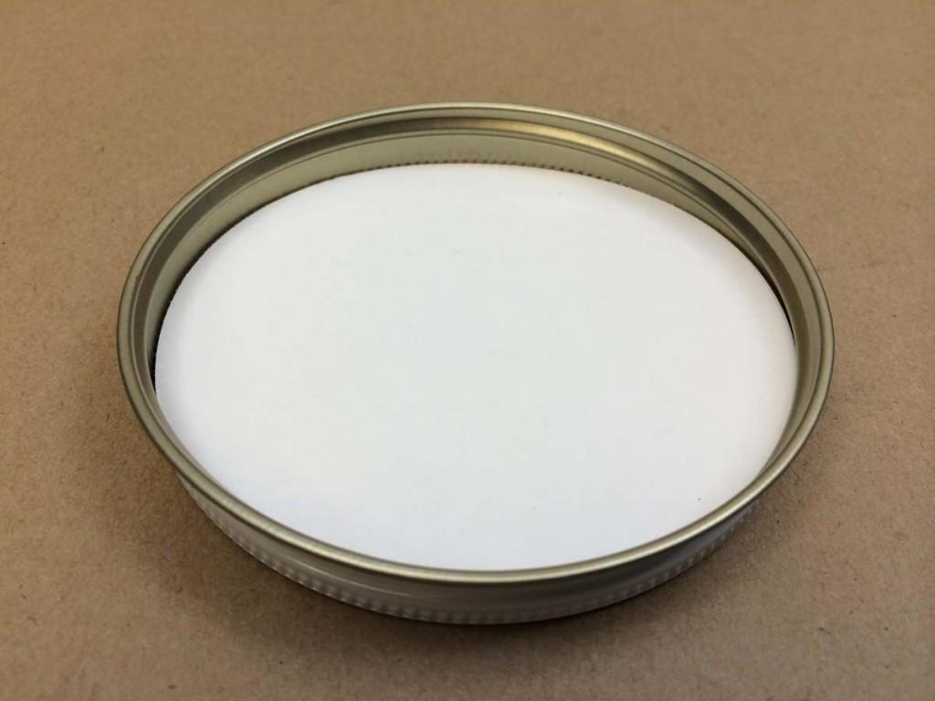 89 400   89 400 White  Round  Metal   Cap