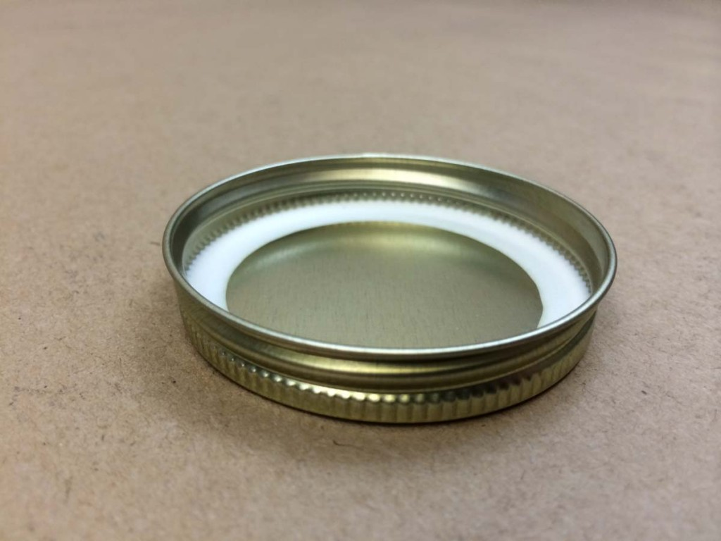 58 400   58 400 Gold  Round  Metal   Cap