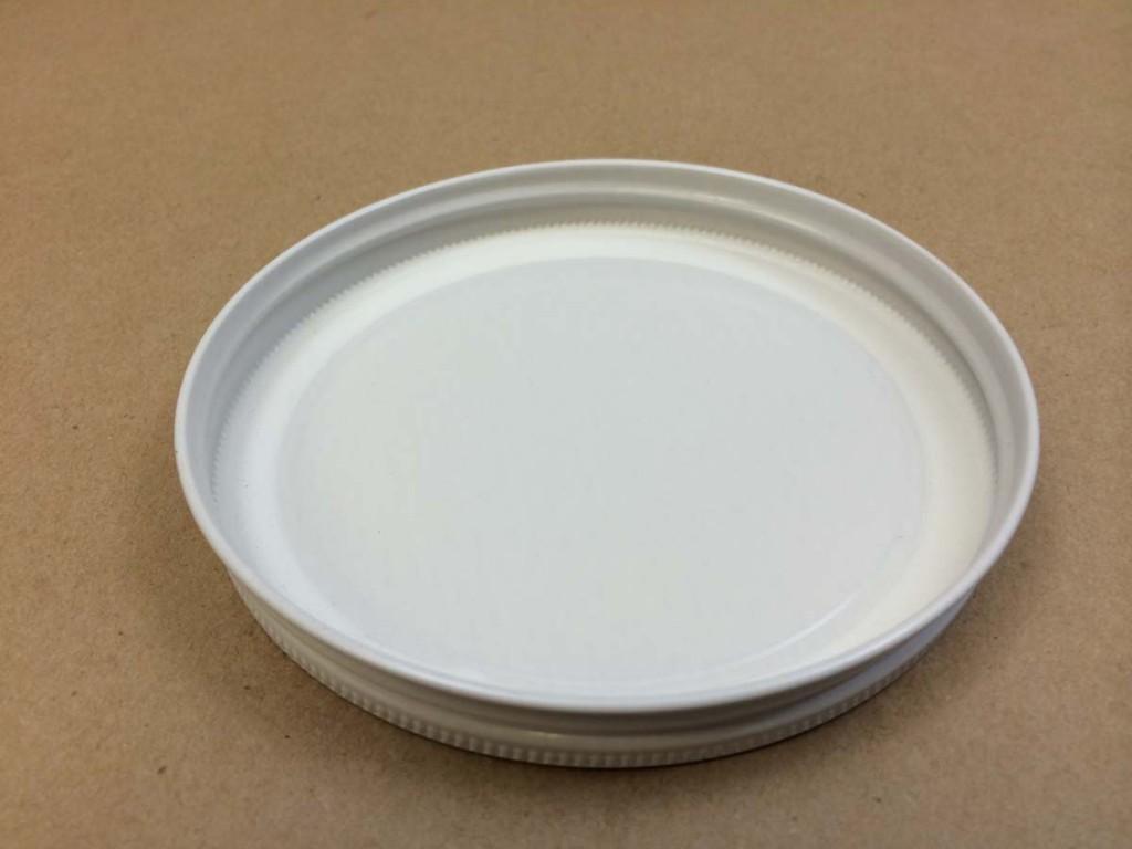 110 400   110 400 White  Round  Metal   Cap
