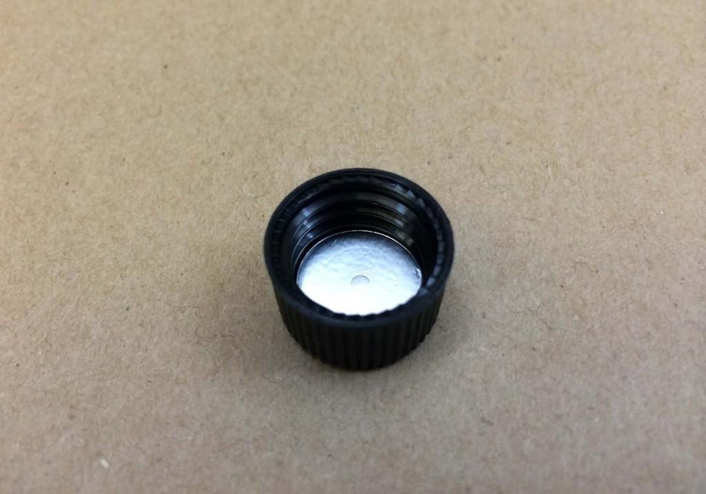 15 425   15 425 Black  Round  Plastic   Cap