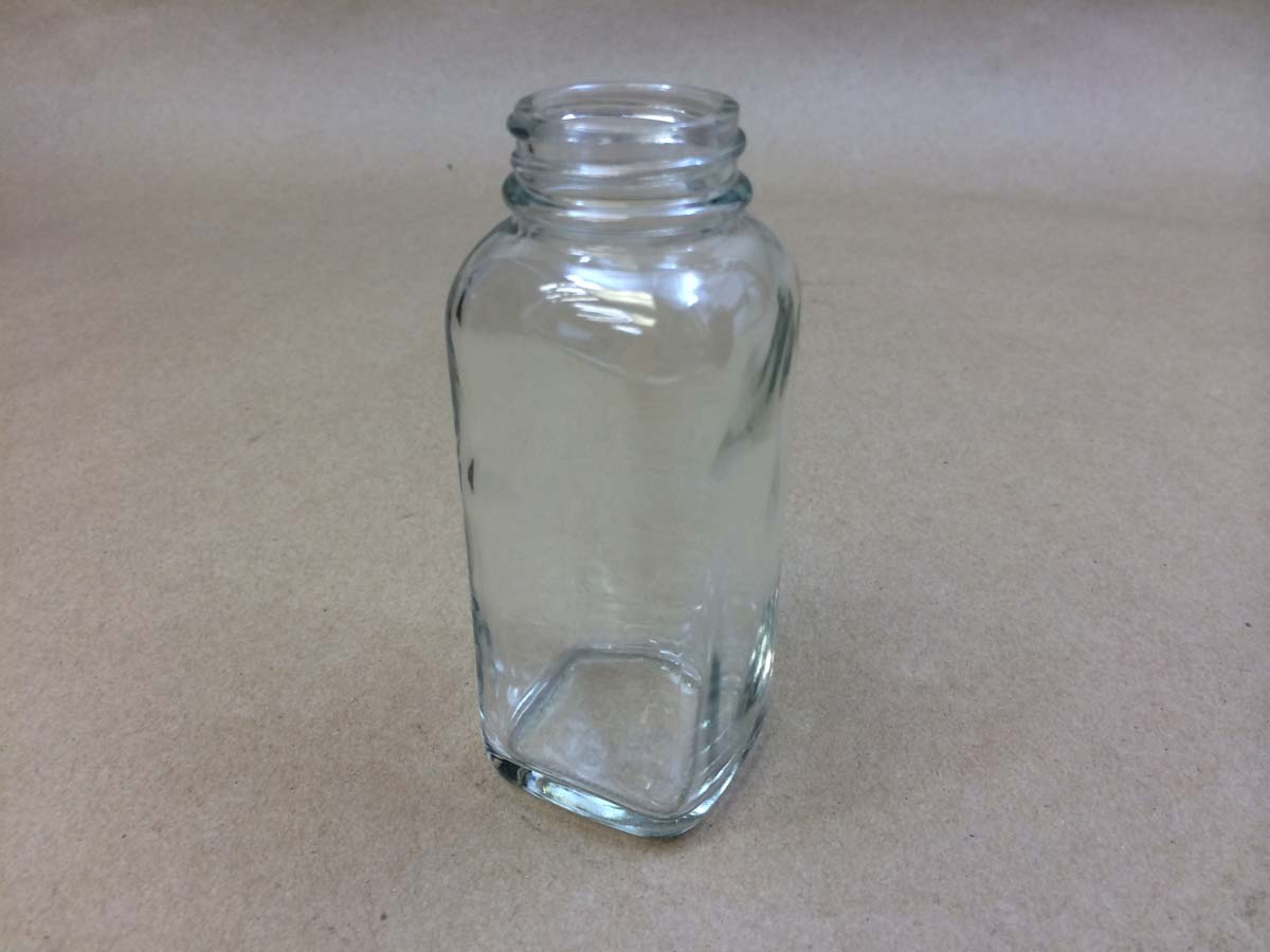 4 oz.   33400 Flint/Clear  Square  Glass   Jar
