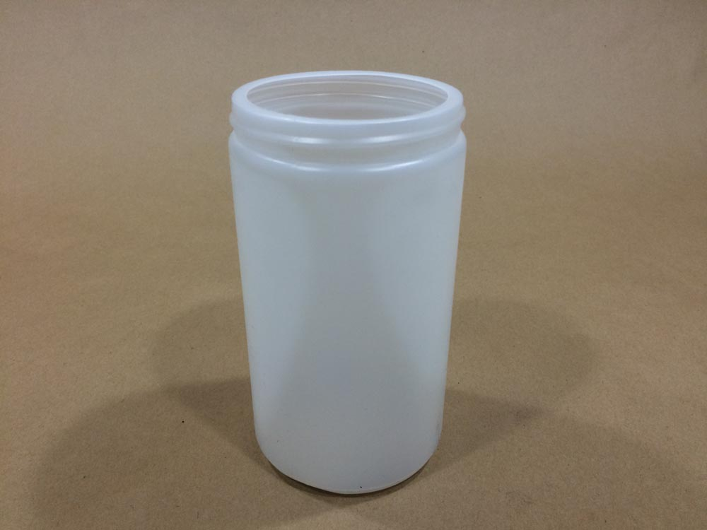 32 oz.   89 400 Natural  Wide Mouth Round  Plastic   Jar
