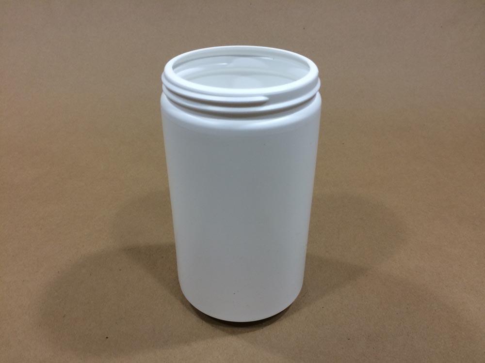 32 oz.   89 400 White  Wide Mouth Round  Plastic   Jar