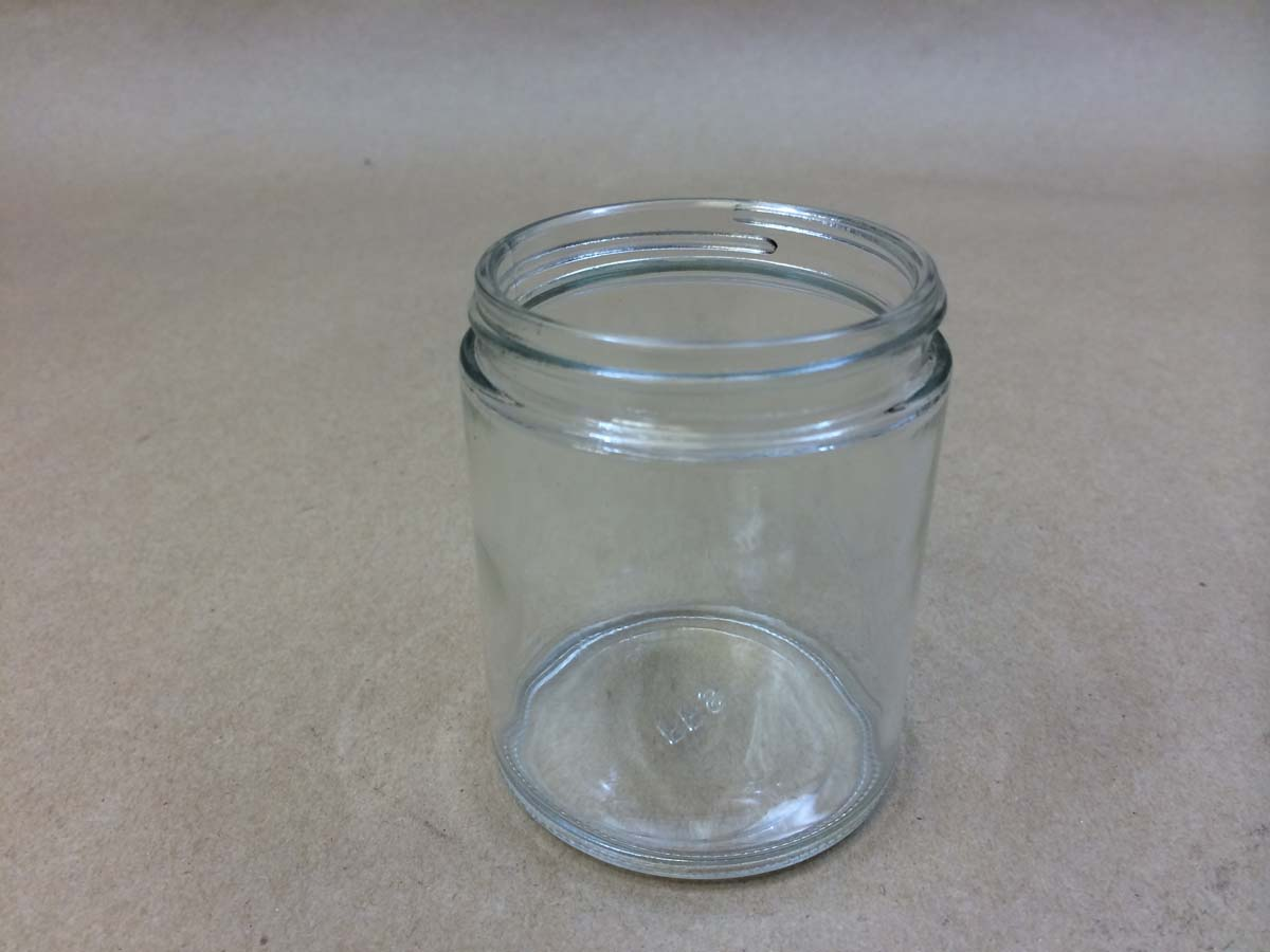 6 oz. Straight Sided Round Glass Jar